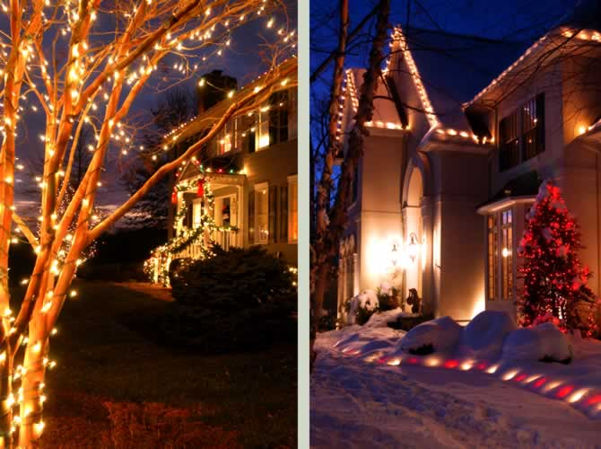 Mullan Nursery Co | Baltimore County, Maryland | Landscape & Hardscape | Holiday Christmas Lighting Display Decor Commercial Residential