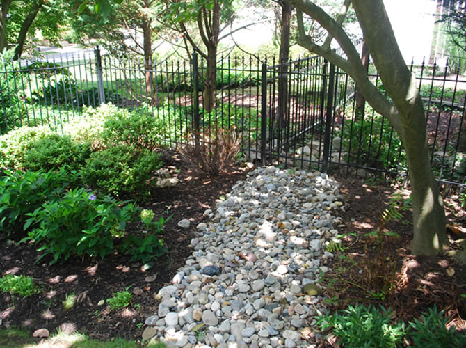 Mullan Nursery Co, Inc   Landscaping & Planting   Growers of Quality Nursery Stock   Baltimore, MD   Baltimore County, MD   Drainage solutions, yard runoff, yard ponding, wet area in yard, wet yard