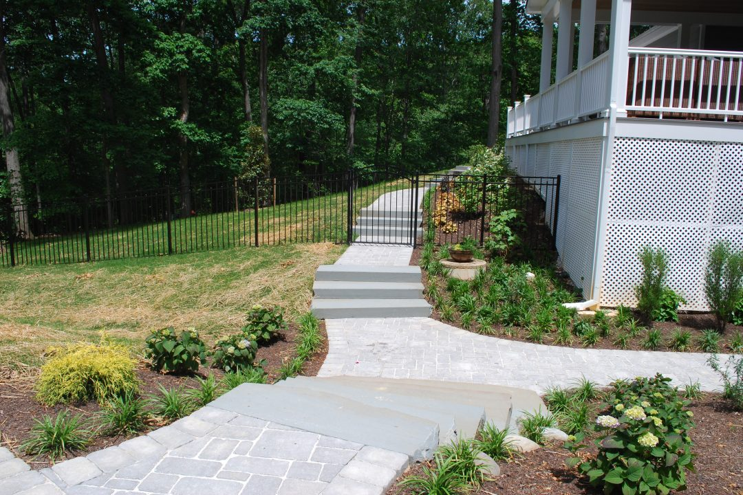pavers and stone steps